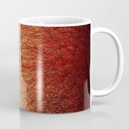 Linear Abstract2-Warm Colors Coffee Mug