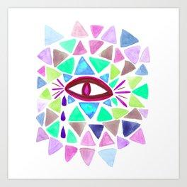 Crystaleyes 3 Art Print