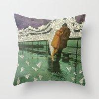 maryland Throw Pillows featuring Maryland by Nico Padayhag
