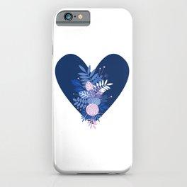 Feelings (Blue) iPhone Case