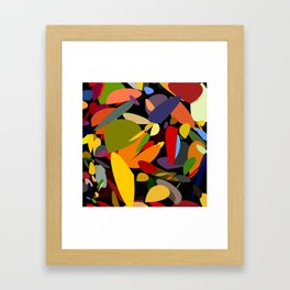 Colorful pebbles on black Framed Art Print