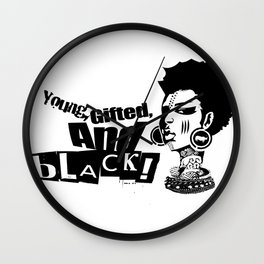 Young Gifted And Black Wall Clock
