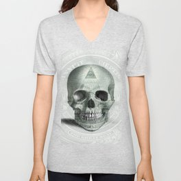 Eye on the Skull Unisex V-Neck