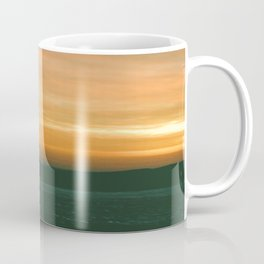 sunset over the frozen Lake Michigan  Coffee Mug