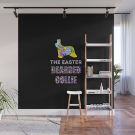 Bearded Collie gifts | Easter gifts | Easter decorations | Easter Bunny | Spring decor Wall Mural