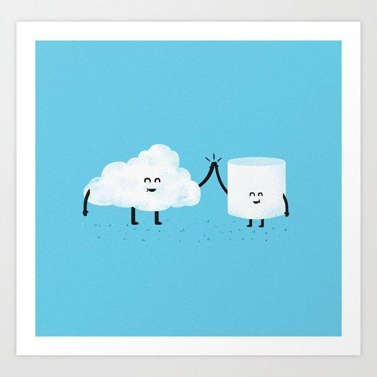 Puffy Pals Art Print