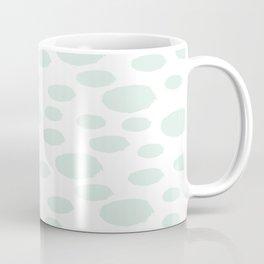 Mint Polka Art Coffee Mug