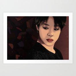 BTS JIMIN FAKE LOVE FANART Art Print