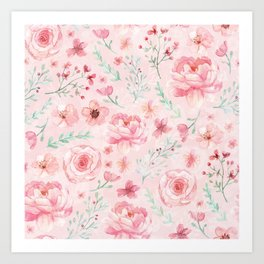 Pink Sweety Floral Art Print