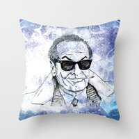 jack Throw Pillows featuring Jack by Rabassa