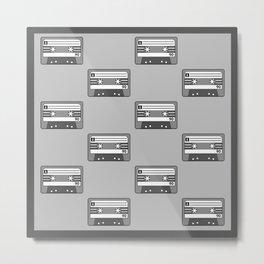 Cassette Tapes Metal Print