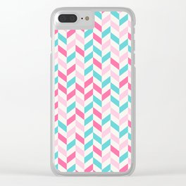 down arrow pattern Clear iPhone Case