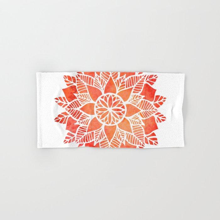 Orange Mandala Hand & Bath Towel