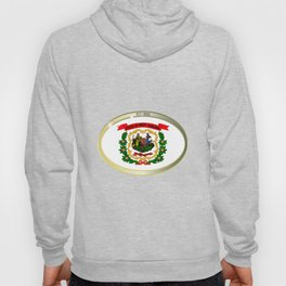 West Virginia State Flag Oval Button Hoody