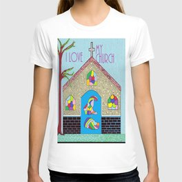 ASL I Love my Church T-shirt