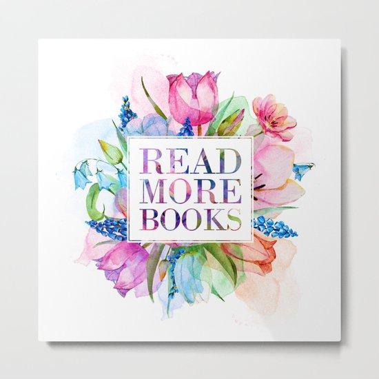 Read More Books Pastel Metal Print