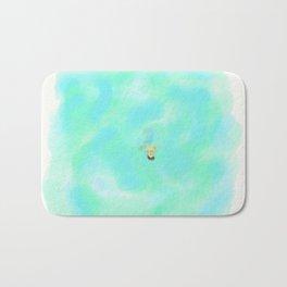 Floating in emerald Bath Mat