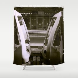 Train Carriages Meet Shower Curtain