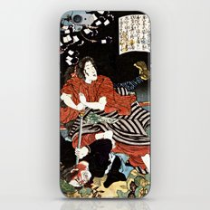 The Woman Kansuke Slaying an Assailant with a Sword iPhone & iPod Skin