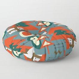 Mid Century Modern Christmas Floor Pillow
