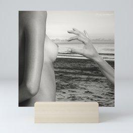 Lesbian Love at Sunrise on the beach Mini Art Print