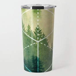 The Elements Geometric Nature Element of Earth Travel Mug