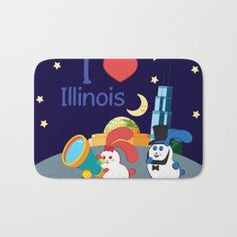 Ernest and Coraline | I love Illinois Bath Mat