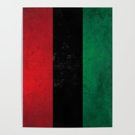 Distressed Afro-American / Pan-African / UNIA flag Poster