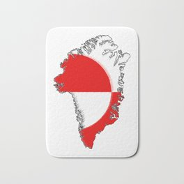 Greenland Map with Flag Bath Mat