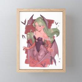 Morrigan Darkstalkers Framed Mini Art Print