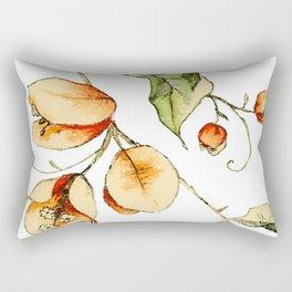 Orange Bougainvillea Illustration Rectangular Pillow