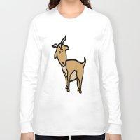 goat Long Sleeve T-shirts featuring Goat by Luke Roach