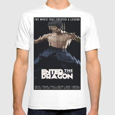 Enter the Dragon MEDIUM Mens Fitted Tee White