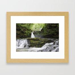 Four falls walk waterfall 5 Framed Art Print