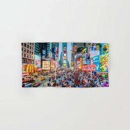 Times Square Tourists Hand & Bath Towel