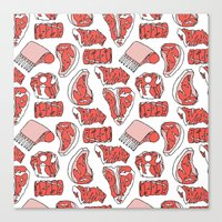 meat Canvas Prints featuring meat by ELLA CHERREY