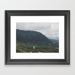 Through the Green Mountain - Hawaii Framed Art Print
