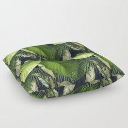 Tropical Leaf Pattern 1 Floor Pillow