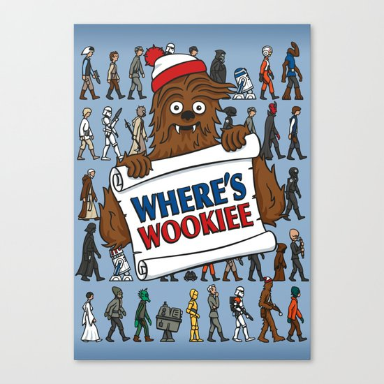 Where's Wookiee Canvas Print