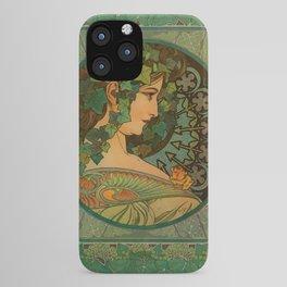 """Alphonse Mucha """"Ivy"""" iPhone Case"""