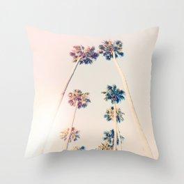 Vintage Pastel Palm trees Throw Pillow