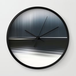 Illusion Of A Forest & A Black Sea Wall Clock