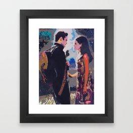 Johnny and June Framed Art Print