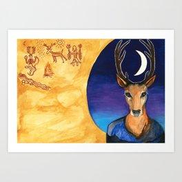 Stag Dreamer Art Print