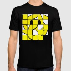 Acid Smiley Shuffle Puzzle 2X-LARGE Mens Fitted Tee Black