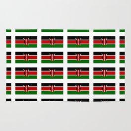 Flag of Kenya -kenyan,kenia,rift valley,serengeti,kilimanjaro,nairobi,mombasa Rug