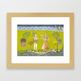 Shiva and Annapurna Framed Art Print