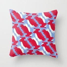 White-tailed eagle - Poland national symbol, flag colors Throw Pillow