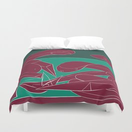 Picasso - On the beach (Bordeaux Green) Duvet Cover