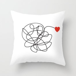 MESSY LOVE Throw Pillow